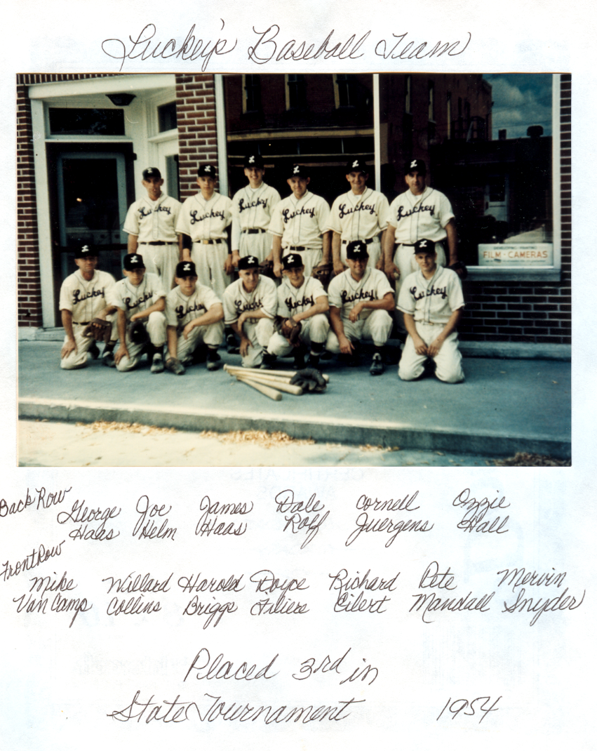 Luckey baseball 1954