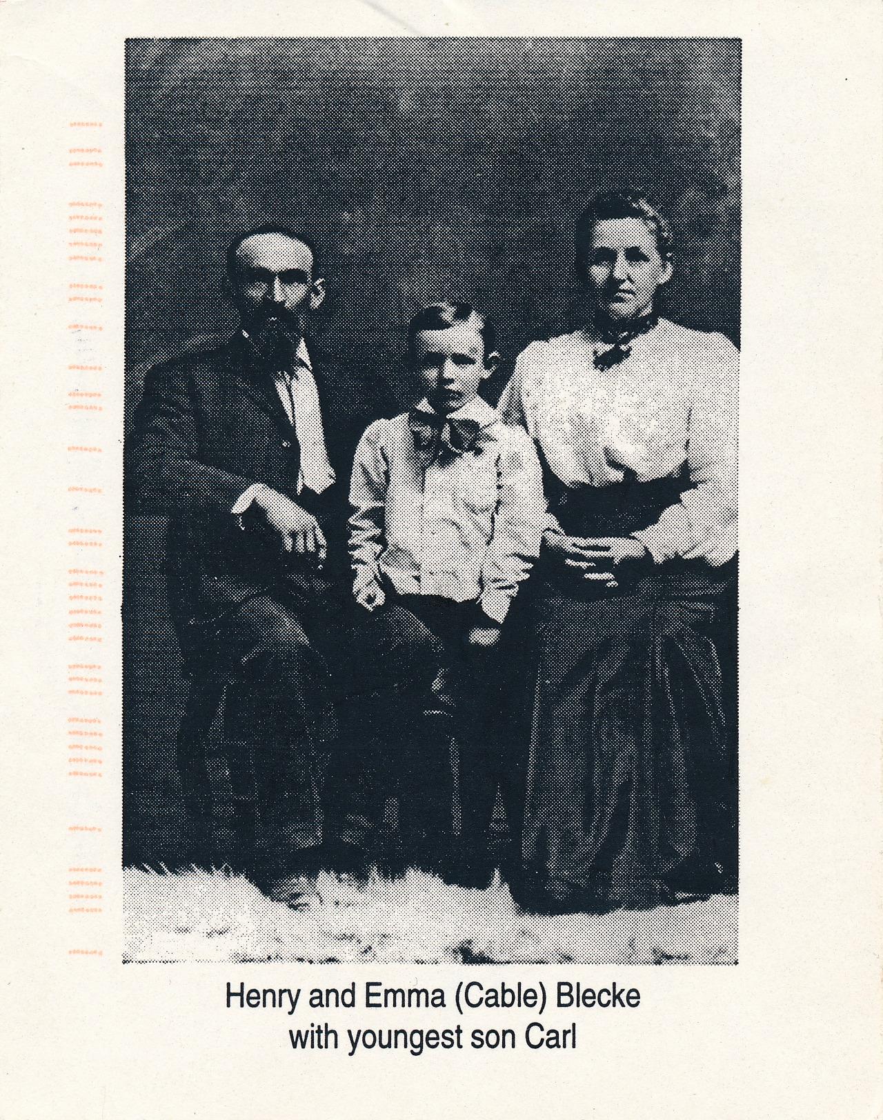 Henry, Emma & little Carl Blecke