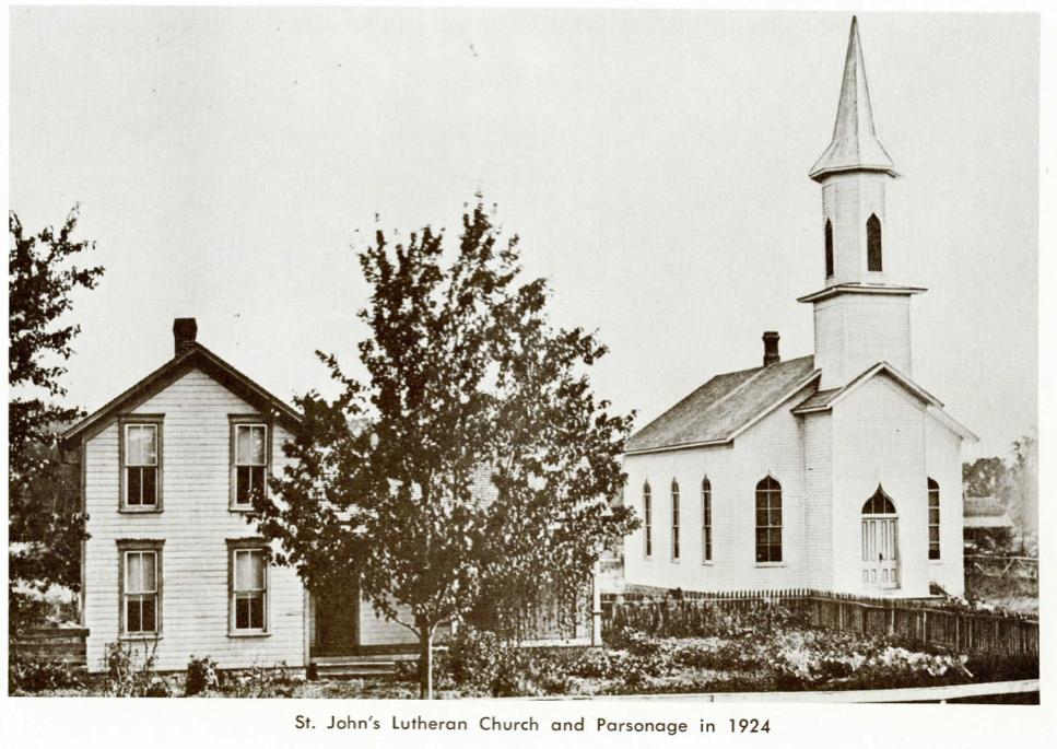 St. John's Lutheran church and Parsonage, Stony Ridge, Ohio