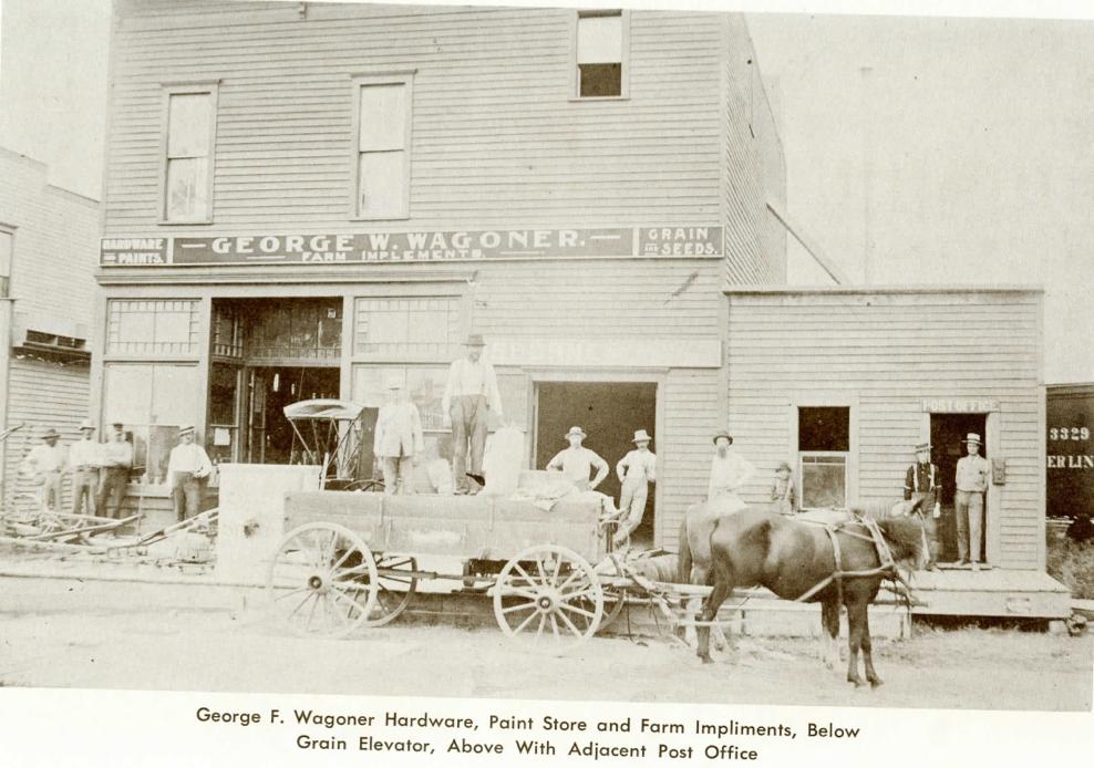 George R. Wagoner Hardware, Paint Store and Farm Implements,  Adjacent Post Office, Stony Ridge, Ohio