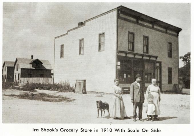 Ira Shook's Grocery Stone 1910, Stony Ridge, Ohio