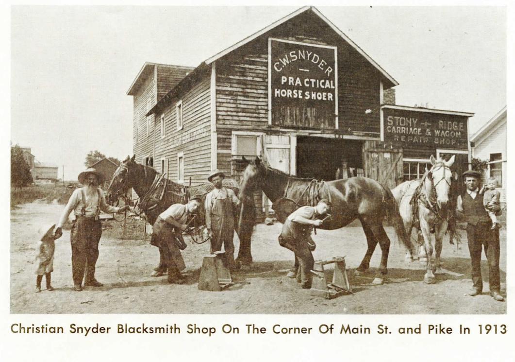 Christian Snyder Blacksmith Shop 1913, Stony Ridge, Ohio