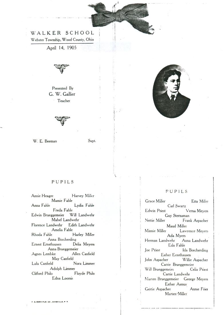 Walker School 1905